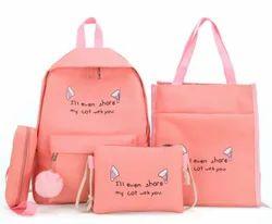 Antifiction Backpack 5 in 1 Bag Kit for Kids Girls School College Travel Bag Sling Messenger Bag