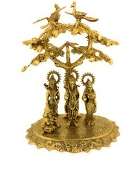 Gold Plated Ram Darbar Statue Under Tree Statue