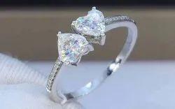 Heart Moissanite Ring