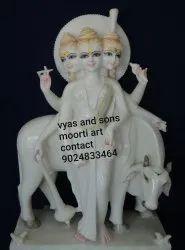 Marble Brahma Vishnu Mahesh Statue
