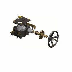gear box for quarter turn valves