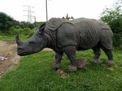 FRP Rhinoceros Statue