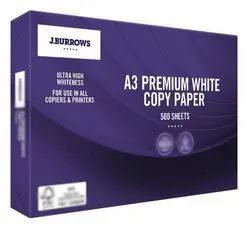 A3 Premium White Copier Paper, GSM: 80 GSM, Packaging Type: Packet