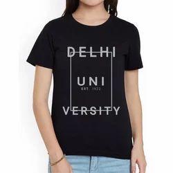 Round Printed College Fest T-Shirt