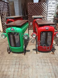 Rectangular Automobile Tractor Wooden Table