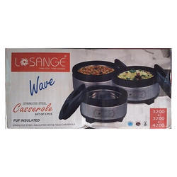 Losange Wave 3 Pc Casserole Set