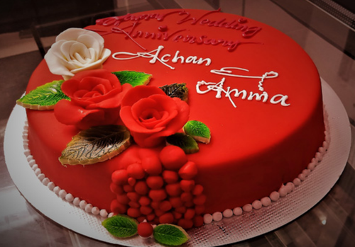 Superb Red Fondant Birthday Cake At Rs 990 Piece Cream Cake Id Birthday Cards Printable Benkemecafe Filternl