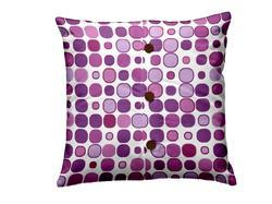 Button Print Cushion Cover