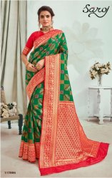 Green Color Fancy Patola Silk Saree
