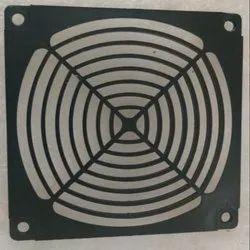 Black PVC Panel Fan Guard, Size: 12x12 Inch