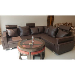 L Shape Home Sofa with Coffee Table