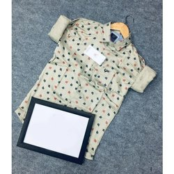 Printed Men Cotton Casual Shirt