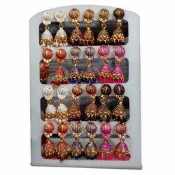 Aryan Gold Plated Imitation Earri gs Jhumki