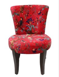 Tiara Wooden Upholstery Chair / Small Living Room Chair Multicoloured Chair / Bedroom Chair