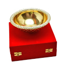 Gold Plated Serving Bowl