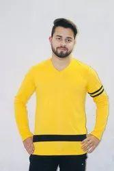 Yellow V Neck T Shirt
