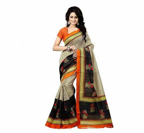 67ae780dab Multicolor Festive Wear Women Art Silk Bhagalpuri Saree, With Blouse Piece