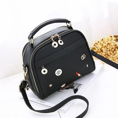 3737ae56c3997 Vismiintrend Ladies Black Leather Hand Bag, Rs 1299 /piece   ID ...