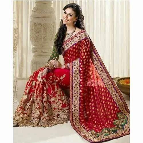wedding wear indian wedding saree rs 3500 piece mahalaxmi sarees