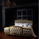 Antique Gold French Rococo King Bed