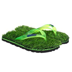 Mens Grass Flip Flop Slippers