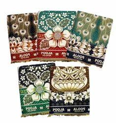 Mandhania Floral Solapuri Pooja Chaddar Cotton Blankets