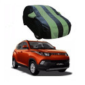 Navy Blue And  Green Car Body Cover