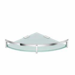 Triangle Transparent Glass Corner Shelf, Packaging Type: Box