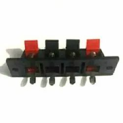 Plastic And Blass Red And White 4 Way Speaker Sockets, For Music System