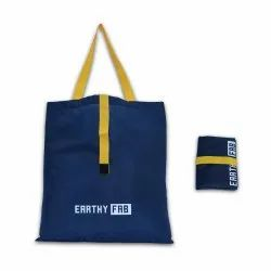 Polyster Blue Foldable Grocery Bag, Capacity: 8 KG, Size: 15x16 Inches
