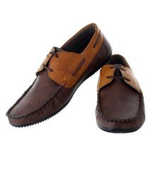 Feetzone Brown Formal Shoes
