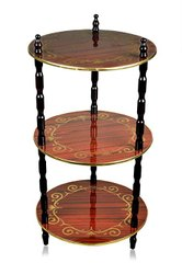 3 Shelf Round Table