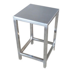 Polished Stainless Steel Stool