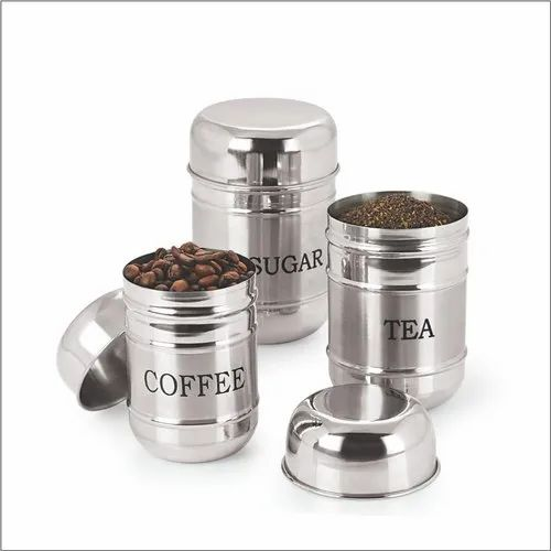 67681ea2476 3 Piece Stainless Steel Bullet Dabbad Canister Set