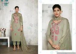 Cotton Pleated Pants SILK DIGITAL PRINTED DESIGNER DRESS, Bag Packaging