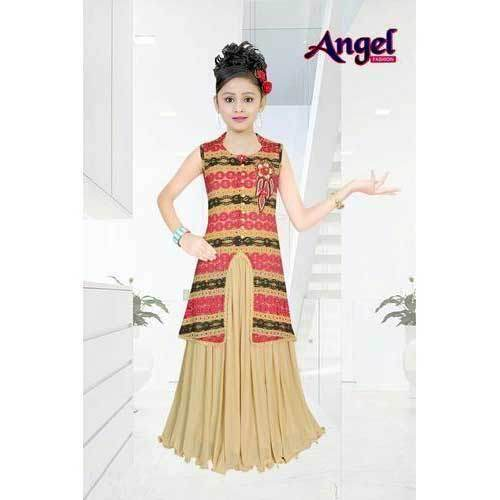 a6875c33 Georgette Kids Girl Indo Western Dress, Rs 880 /piece, Angel Fashion ...