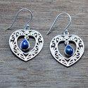 925 Sterling Silver Fancy Jewelry Lapis Lazuli Gemstone New Earring We-5452
