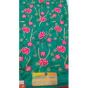 Green Designer Embroidery Fabric