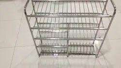 Stainless Steel 4 Shelves Kitchen Rack  sc 1 st  IndiaMART & Stainless Steel 4 Shelves Kitchen Rack Rs 200 /kilogram Lokseva ...