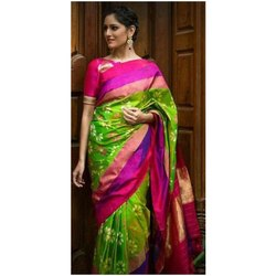 Silk Pochampally Ikkat Saree, 5.5 m (separate blouse piece)