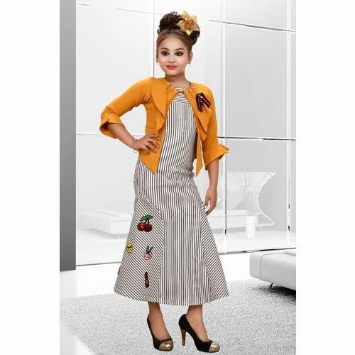 e219ff96c2ac Party Wear Striped Kids Designer Dress