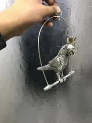 Silver Plated Parrot Hanging
