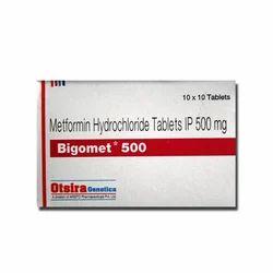 Bigomet 500 Tablet, 10 X 10, Treatment: Type 2 Diabetes