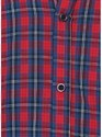 Mens Casual Red Check Shirt
