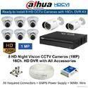 Dahua 1(MP) 8 HD CCTV Cameras with 16Ch. HD DVR Kit