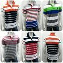 Mens Striped Collar T-Shirt