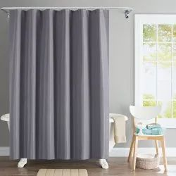 72 X 84 Inch Grey Solid Wave Shower Curtain