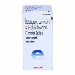 Viropil - Dolutegravir, Lamivudine & Tenofovir Disoproxil Fumarate Tablets