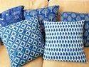 Indigo Cotton Cushion Cover