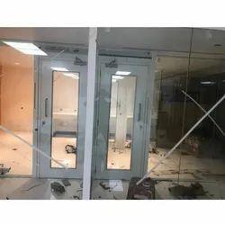 Universal Engineering Plain Transparent Glass Door, For Office